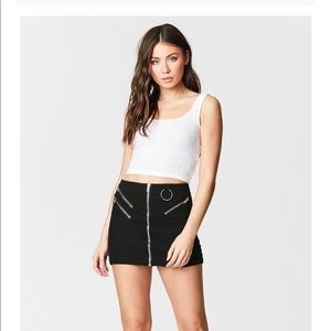 Carmar Denim Multizip Skirt with Shredding
